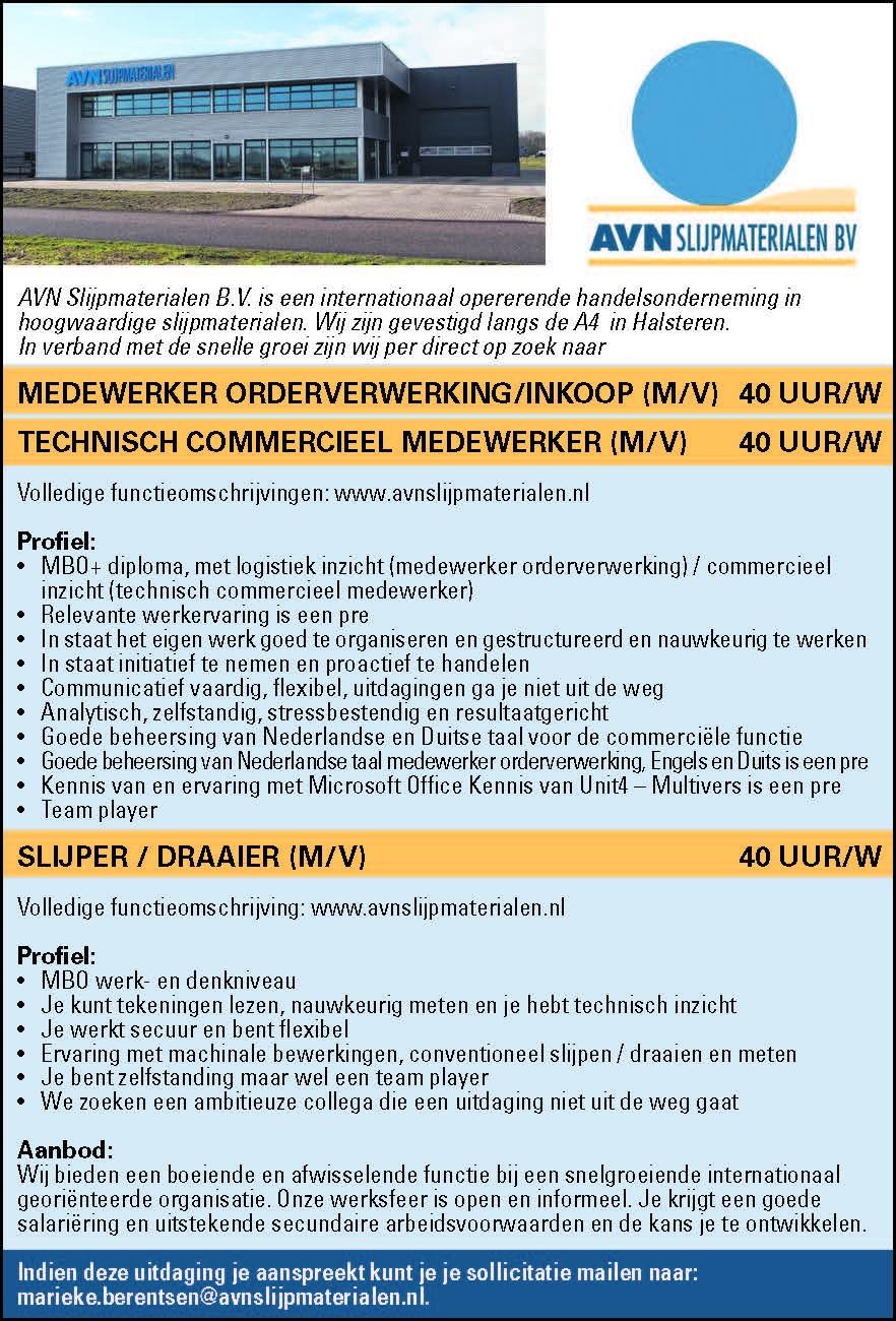 Medewerker Orderverwerkinginkoop Mv Brabantwerktnl