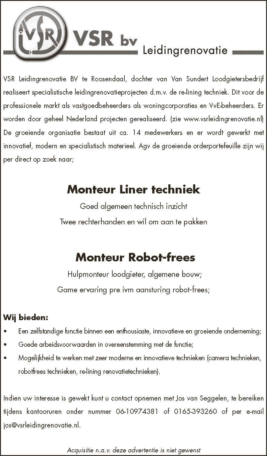 Monteur Robot Frees Brabantwerktnl